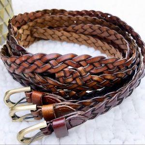 🍄BOHO 3 Stranded Braided Rope Multi Toned Belt